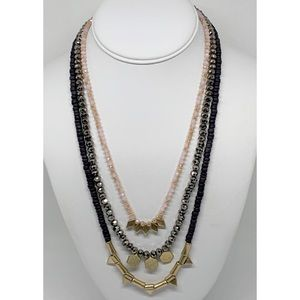 LOFT Multi-Strand Beaded Necklace